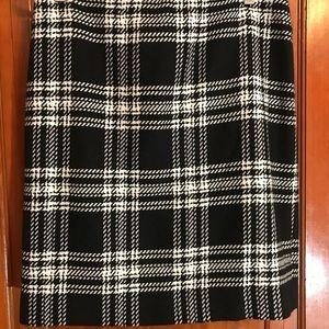 Talbots Plaid wool skirt size 8